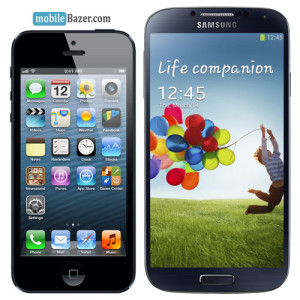 iPhone 5 VS Samsung Galaxy S4 mobileBazer